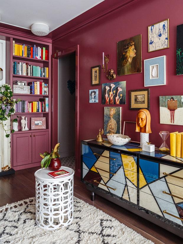 Фотография: Гостиная в стиле Эклектика, Квартира, Проект недели, Москва, Надя Зотова, Кирпичный дом, 2 комнаты, 40-60 метров, студия Enjoy Home – фото на INMYROOM