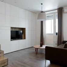 Фотография: Гостиная в стиле Минимализм, Малогабаритная квартира, Квартира, Студия, Проект недели, до 40 метров – фото на InMyRoom.ru