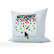 Декоративная подушка: Россыпь пикселей