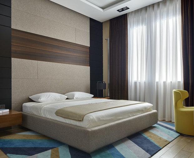Фотография: Спальня в стиле Современный, Квартира, Проект недели, Москва, Макс Касымов – фото на InMyRoom.ru