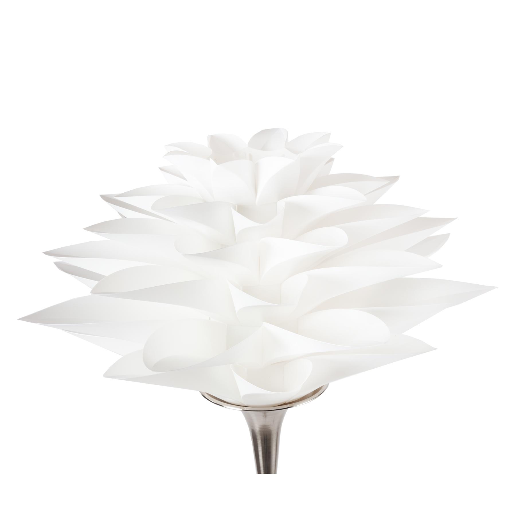 Купить со скидкой Торшер Artik с белым плафоном в виде цветка