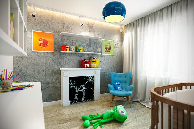 Фотография: Детская в стиле Лофт, Квартира, Дома и квартиры, Проект недели – фото на INMYROOM
