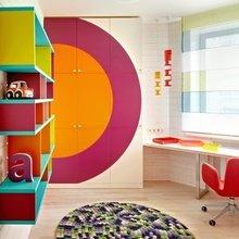 Фотография: Детская в стиле Современный, Квартира, Цвет в интерьере, Дома и квартиры – фото на InMyRoom.ru