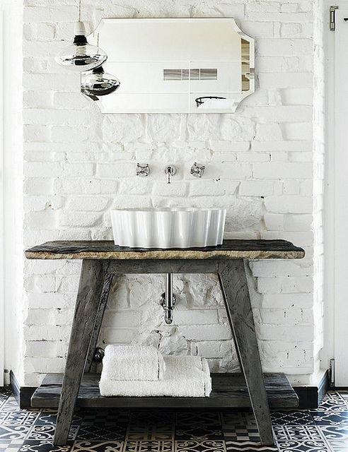 Фотография: Ванная в стиле Лофт, Декор интерьера, Квартира, Декор, Советы, раковина, раковина в ванной – фото на InMyRoom.ru