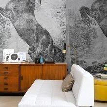 Фотография: Гостиная в стиле Скандинавский, Эклектика, Декор интерьера, Декор дома, Обои, Стены, Картины, Принт, Панно, Roommy.ru – фото на InMyRoom.ru