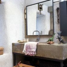 Фотография: Ванная в стиле Кантри, Лофт, Декор интерьера, Декор дома, Стены – фото на InMyRoom.ru