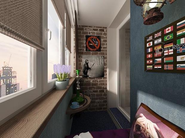 Фотография: Балкон, Терраса в стиле Лофт, Интерьер комнат, Минимализм – фото на InMyRoom.ru