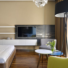 Фотография: Гостиная в стиле Современный, Эко, Малогабаритная квартира, Квартира – фото на InMyRoom.ru