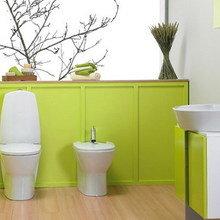 Фотография: Ванная в стиле Современный, Декор интерьера, Дизайн интерьера, Цвет в интерьере – фото на InMyRoom.ru