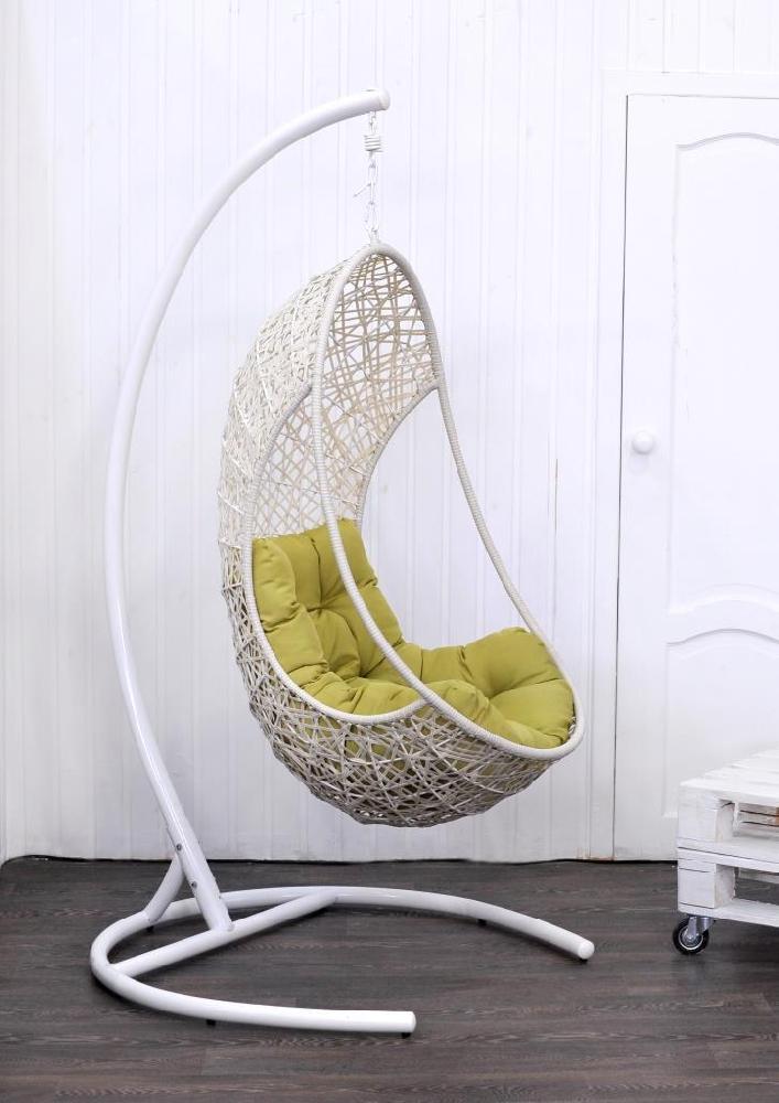 Кресло подвесное Lite из плоского искусственного ротанга