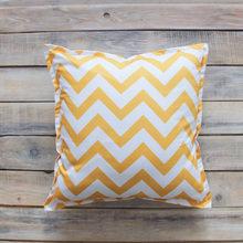 Подушка Yellow Zigzag из 100% хлопока