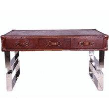 Кожаный письменный  стол