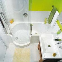 Фотография: Ванная в стиле Хай-тек, Малогабаритная квартира, Интерьер комнат, Советы – фото на InMyRoom.ru