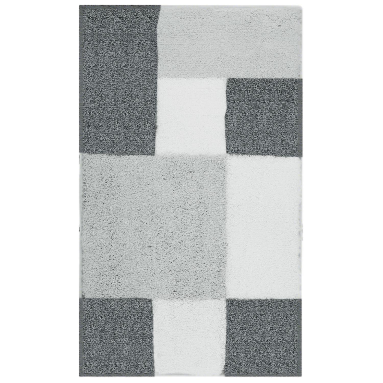Коврик для ванной Zamba серый 60x100 см