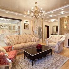 Фотография: Гостиная в стиле Классический, Декор интерьера, натяжные потолки в комнате – фото на InMyRoom.ru
