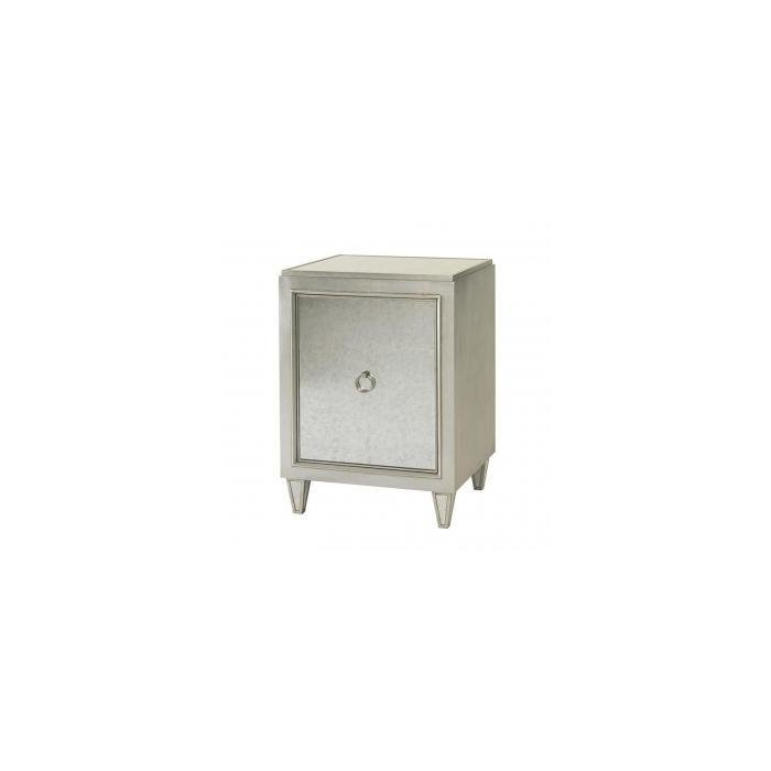 Тумба SAMANTHA NIGHTSTAND / EGLOMISE and Silverleaf