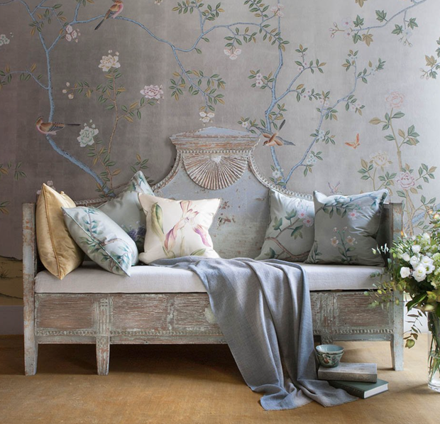 Фотография: Мебель и свет в стиле Прованс и Кантри, Декор интерьера, Обои – фото на INMYROOM