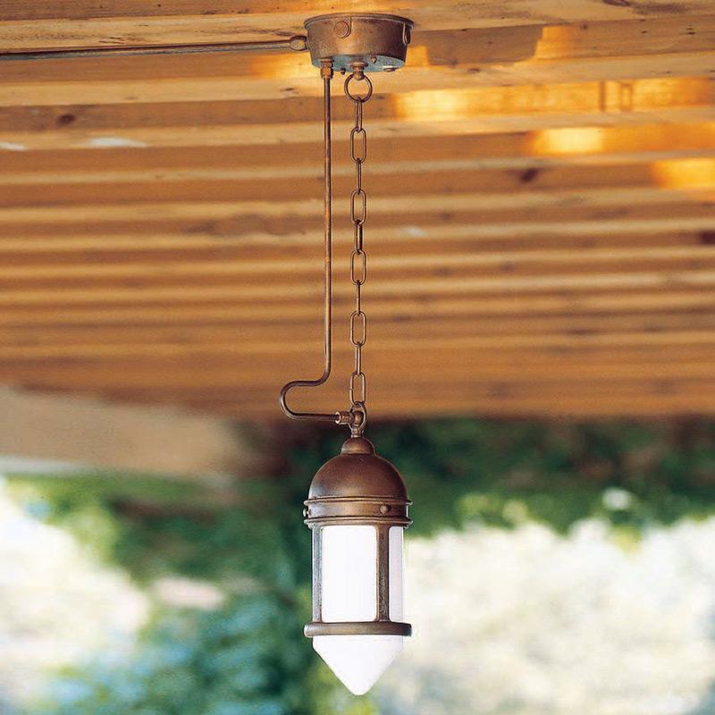 Подвесной уличный светильник Postierla Aldo Bernardi из металла бронзового цвета