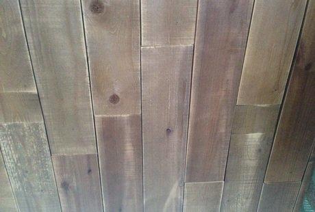 Как сделать такую деревянную кладку на стене?