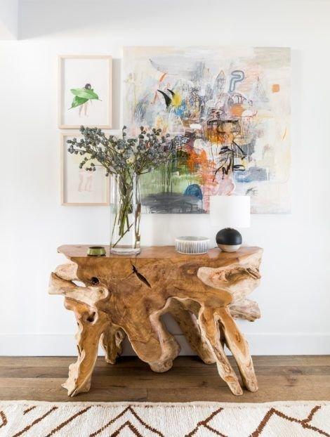 Фотография: Гостиная в стиле Эко, Декор интерьера, дерево в интерьере, тренды 2019 – фото на INMYROOM