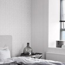 Фотография: Спальня в стиле Классический, Скандинавский, Современный, Декор интерьера, Дизайн интерьера, Цвет в интерьере, Обои, Стены, Эко – фото на InMyRoom.ru