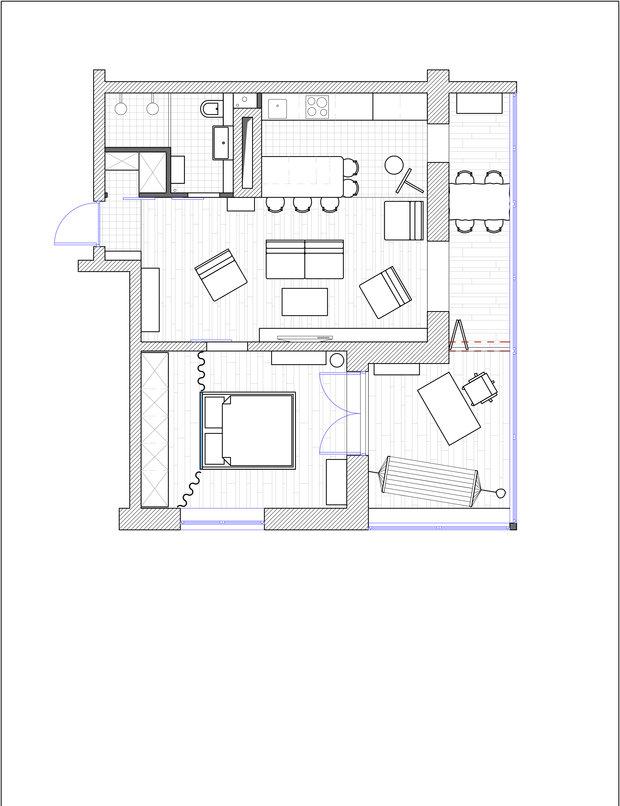 Фотография: Планировки в стиле , Квартира, Проект недели, Санкт-Петербург, Макс Жуков, ToTaste Studio, 1 комната, 40-60 метров, Монолитно-кирпичный, ЖК  «Балтийская жемчужина» – фото на INMYROOM