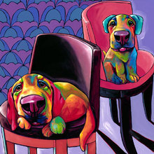 Картина (репродукция, постер): Two lilangels - Рон Бёрнс