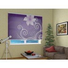 Рулонные шторы в гостиную: Сиреневая легкость
