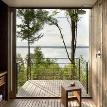 Фотография: Балкон в стиле Лофт, Дом, Архитектура, Ландшафт, Минимализм, Эко – фото на InMyRoom.ru