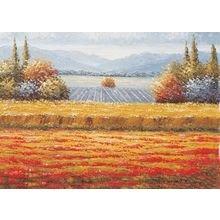 "Декоративная картина на холсте ""Осеннее поле"""