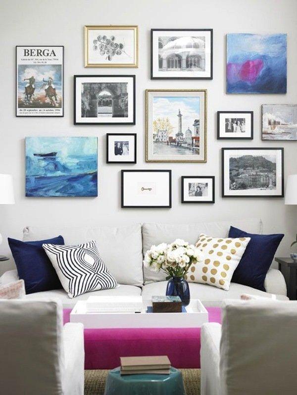 Фотография: Гостиная в стиле Современный, Восточный, Декор интерьера, Декор дома, Стены, Картины, Постеры – фото на InMyRoom.ru