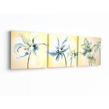 Декоративная картина на холсте: Акварельные цветы