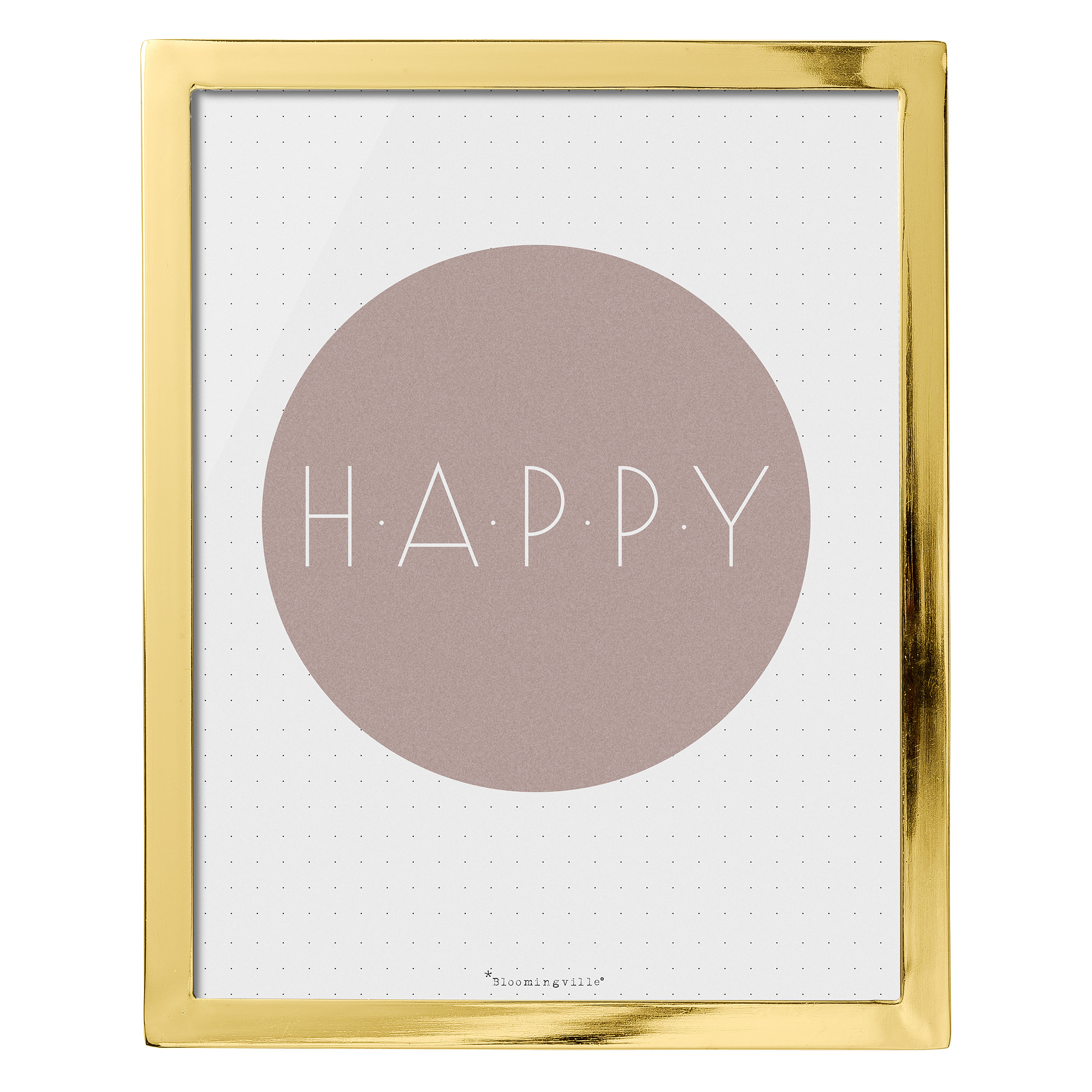 Купить со скидкой Картина Happy в золотой рамке