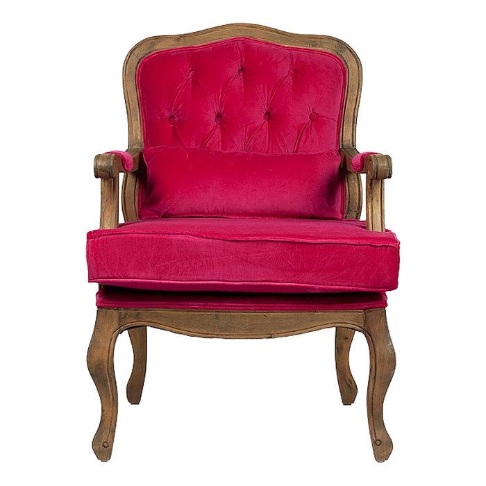 Кресло Maurice с красной вельветовой обивкой