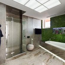 Фото из портфолио Фитостена в ванной комнате  – фотографии дизайна интерьеров на INMYROOM