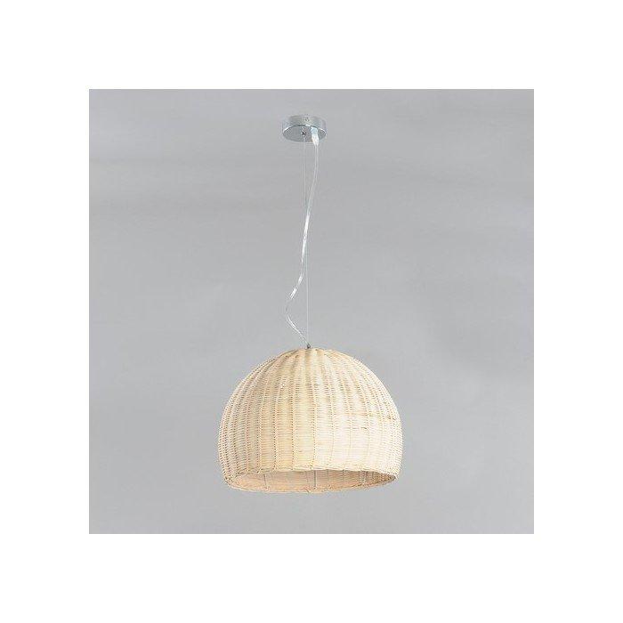 Подвесной светильник Elvan с плафоном из ротанга