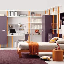 Фотография: Детская в стиле Современный, Спальня, Гардеробная, Декор интерьера, Интерьер комнат, Системы хранения, Кровать, Гардероб – фото на InMyRoom.ru
