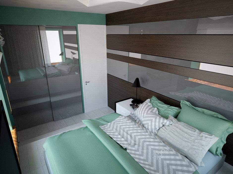 Фотография: Спальня в стиле Современный, Квартира, Дома и квартиры, Проект недели, Пентхаус – фото на InMyRoom.ru