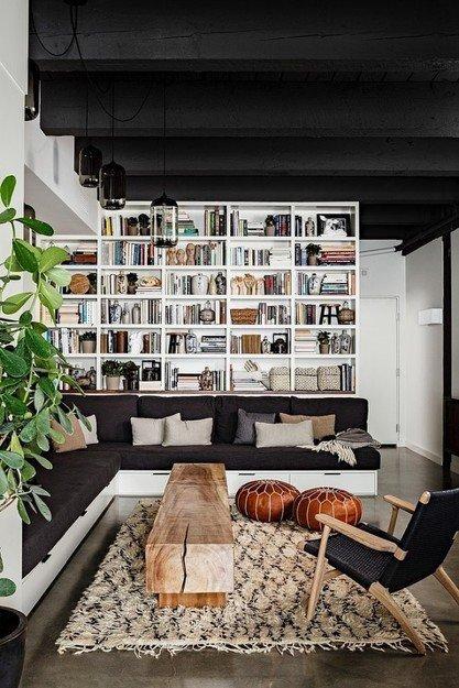 Фотография: Гостиная в стиле Скандинавский, Лофт, Декор интерьера, Квартира, Дома и квартиры, Нью-Йорк – фото на InMyRoom.ru