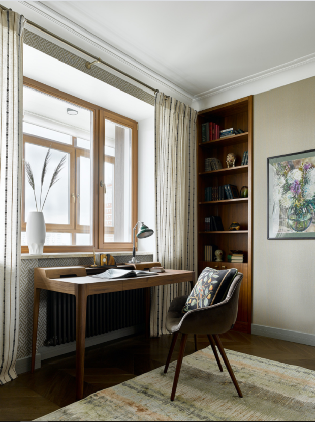 Фотография: Кабинет в стиле Современный, Декор интерьера, модная палитра в интерьере, осенний декор интерьера, квартира в пастельных тонах – фото на INMYROOM