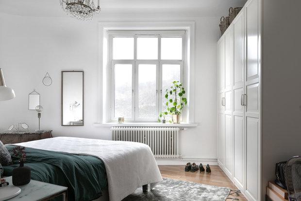 Фотография: Спальня в стиле Скандинавский, Декор интерьера, Квартира, Швеция, Гетеборг, 2 комнаты – фото на InMyRoom.ru