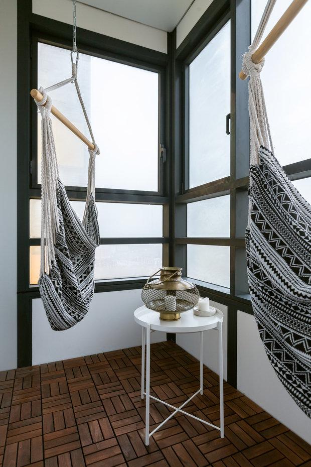 Фотография: Балкон в стиле Скандинавский, Эклектика, Проект недели, Санкт-Петербург, Эко, 3 комнаты, 60-90 метров, I am design studio – фото на INMYROOM