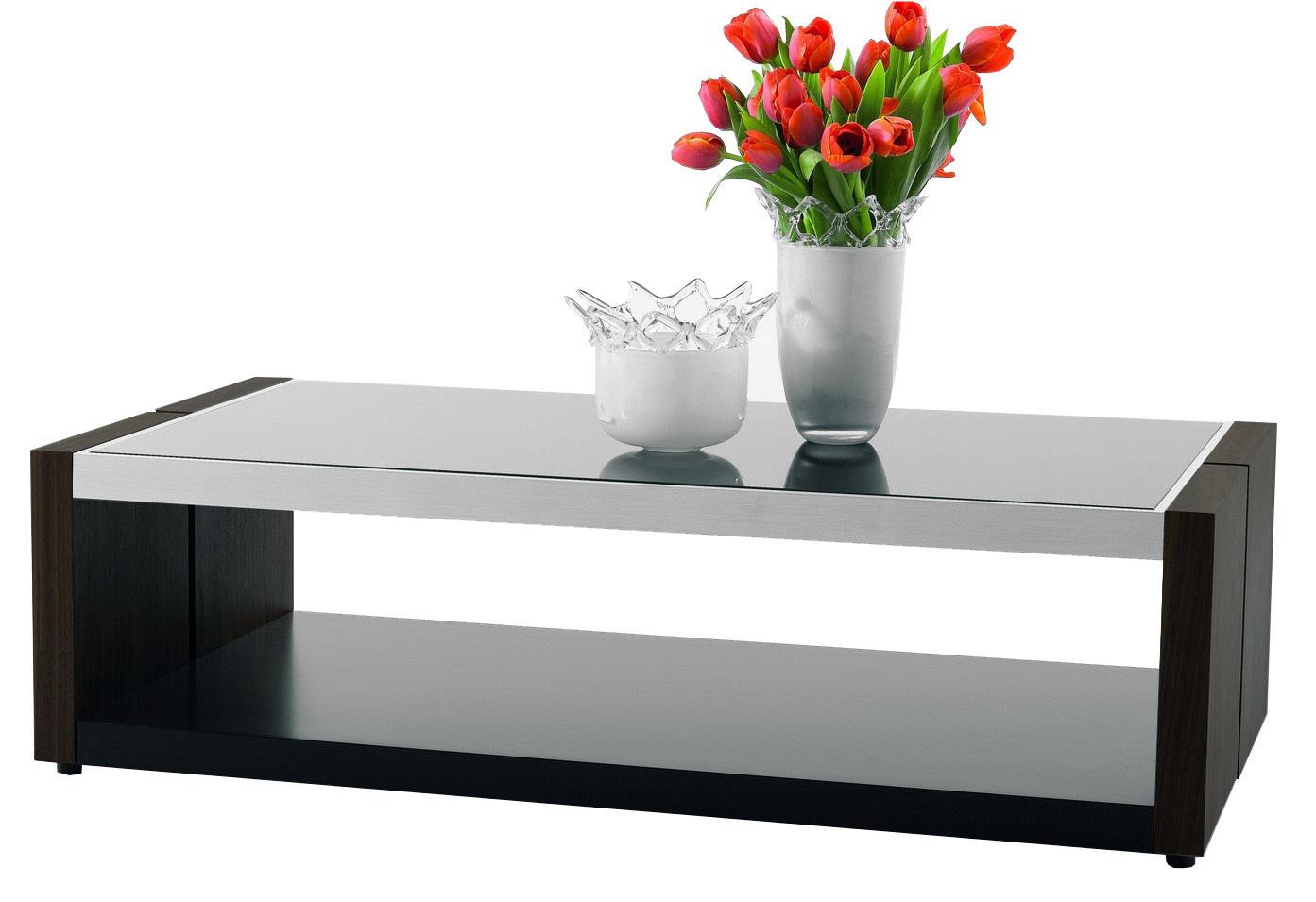Журнальный столик Simple с металлической столешницей