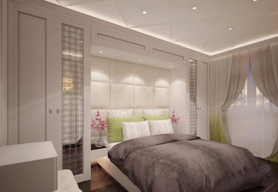 Фотография: Спальня в стиле Современный, Классический, Эклектика, Квартира, Проект недели – фото на InMyRoom.ru