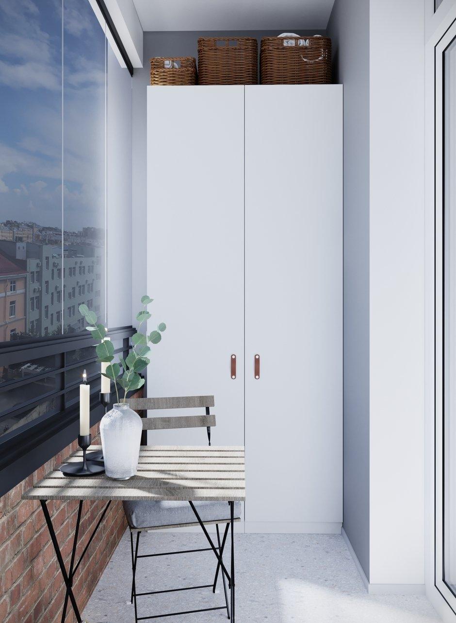 Фотография: Балкон в стиле Скандинавский, Квартира, Проект недели, Санкт-Петербург, 1 комната, 40-60 метров, Монолитно-кирпичный, Студия 20:18 – фото на InMyRoom.ru