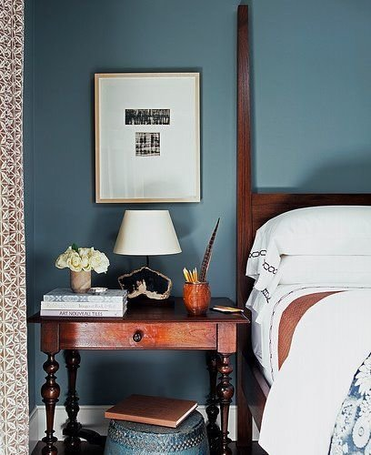 Фотография: Спальня в стиле Прованс и Кантри, Лофт, Декор интерьера, Аксессуары, Декор, Белый, Черный, Желтый, Серый, Бирюзовый – фото на InMyRoom.ru