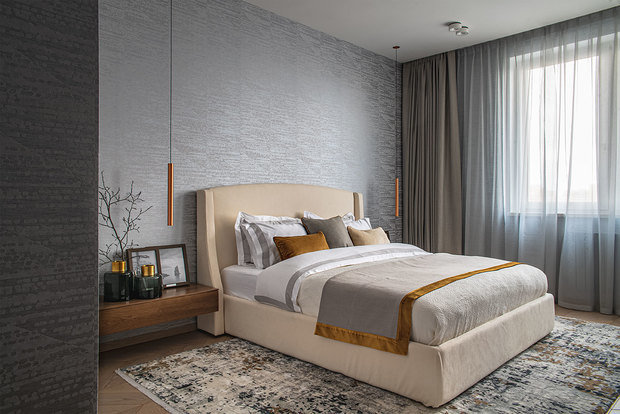 Фотография: Спальня в стиле Современный, Квартира, Проект недели, Москва, 3 комнаты, Более 90 метров, Наталья Широкова – фото на INMYROOM