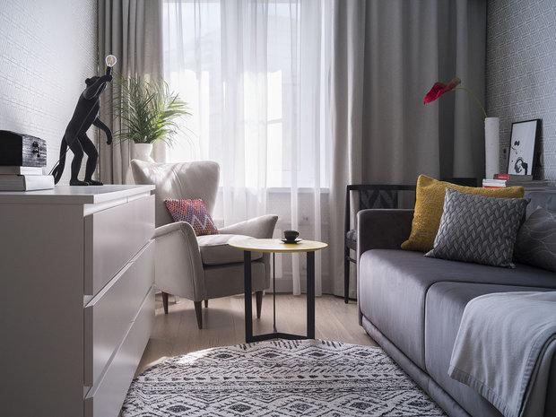 Фотография: Гостиная в стиле Современный, Карта покупок, Мебель и свет – фото на INMYROOM