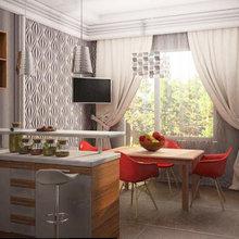 Фото из портфолио Трехкомнатная квартира 120.86 – фотографии дизайна интерьеров на INMYROOM