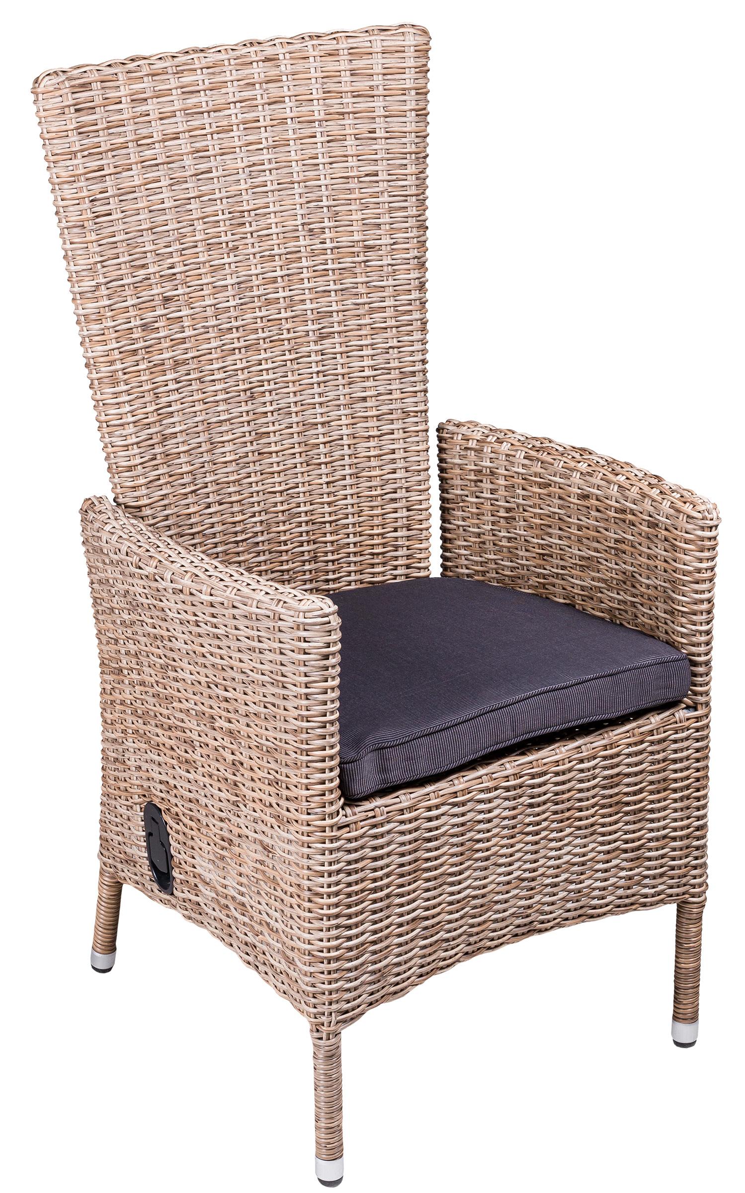 Кресло-реклайнер Capri из искусственного ротанга